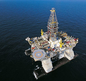 Deepwater 'semi-submersible' oil platforms are hubs of ocean noise from the day of their installation until they are abandoned or destroyed.